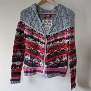 OILILY Lambswool Angora Blend Cardigan Size S EUC